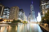 Chicago downtown en la noche
