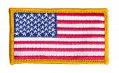 American Flag Patch Isolated