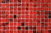 Abstract Grunge  Background With Red Tiles