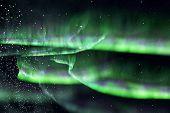 Green Northern Lights. Aurora