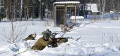 Soviet-finnish War 1939-1940:  Red Army Soldiers Shoots