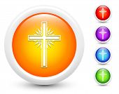 Cross Icons on Round Button Collection Original Illustration