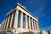 foto of parthenon  - Parthenon on the Acropolis in Athens - JPG