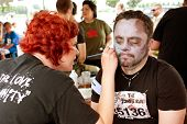 Man Gets Zombie Makeover From Makeup Artist