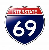 Interstate 69 Sign