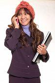 Attractive Brunette Asian Business Career Woman