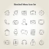 Sketched icon set 2