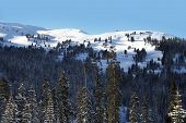 picture of colorado high country  - Mountains Landscape in Winter Time - JPG