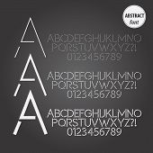 Abstract Line Alphabet And Digit Vector