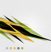 Colorful abstract technology lightning shapes for banner | techno background | web design template |