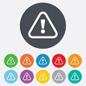 stock photo of hazard  - Attention sign icon - JPG
