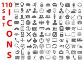 stock photo of universal sign  - 110 Universal flat Icons for Web - JPG