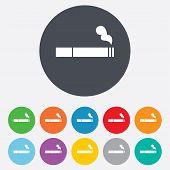 Smoking sign icon. Cigarette symbol.