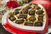 foto of bonbon  - Fancy Box of Gourmet Chocolates for Valentine - JPG
