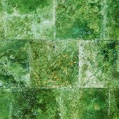 Creative Green Background Wall Of Marble Tiles
