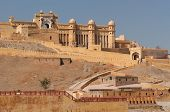 stock photo of hindu  - Beautifoul Amber Fort near Jaipur city in India - JPG