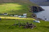 Faroe Islands, Village Of Vidareidi