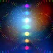 cosmic energy abstract background with rainbow corcles