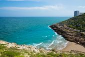 Cullera Cala beach near Faro in blue Mediterranean of spain