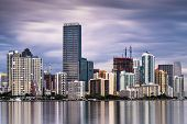 Skyline of Miami, Florida, USA.