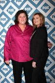 LOS ANGELES - JAN 13:  Dot Marie Jones, Bridgett Casteen at the FOX TCA Winter 2014 Party at Langham
