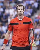 Two times Grand Slam champion Andy Murray during fourth round match at US Open 2013