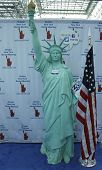 Statue of Liberty with visitors ID at the Greater New York Dental Meeting