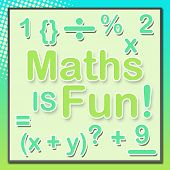 Maths Is Fun Turquoise Green