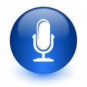 microphone computer icon on white background