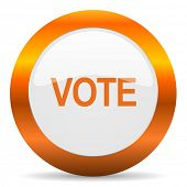 vote computer icon on white background