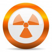 radiation computer icon on white background