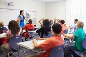 pic of 13 year old  - Female High School Teacher Taking Class - JPG