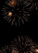 beatiful firework explosion in the night sky