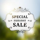 Summer Special Sale Retro Poster