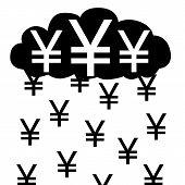 picture of yen  - Vector  - JPG
