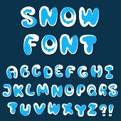 Christmas Snow Alphabet