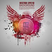 Grunge banner with an inky dribble strip with copy space. Abstract background for party. New color design 2014