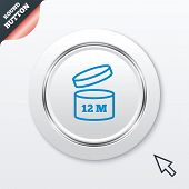 After opening use 12 months sign icon.