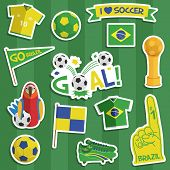 Brazil Football Stickers