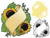 Sunflower bookplate