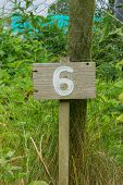 Wooden Sign Given Garden Plot Number