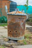 Outdoor Incinerator For Allotment Or Garden