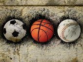 Basketball, Baseball And Soccer