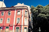 Lisbon, Portugal - May 11: Old Town Lisbon on May 11, 2014. street view of typical houses in Lisbon,