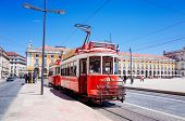 Lisbon, Portugal - May 11: Typical,Tramway on May 11, 2014. Beautiful Tramway in  Lisbon, Portugal,