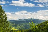 stock photo of apennines  - Rolling Hills of the Apennine Mountains Piacenza Italy - JPG