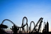 stock photo of luzon  - Silhouette of roller coaster - JPG