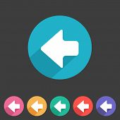 Flat game graphics icon arrow left