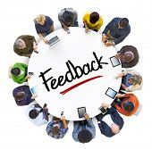 Multiethnic Group of People with Feedback Concept