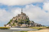 stock photo of michel  - View to Mount St Michel in Normandy France